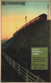 Vintage London underground poster - Light, power and Speed